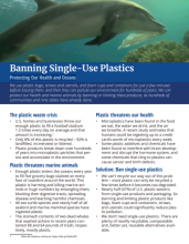 Download Single-Use Plastics factsheet.